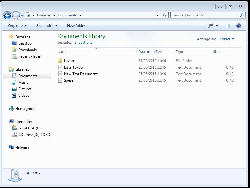 Windows Explorer eseguito sulla macchina infettata