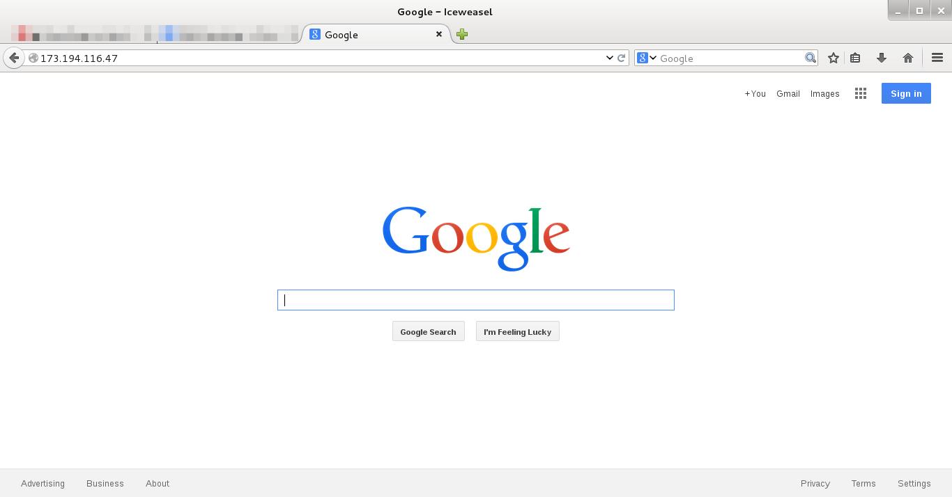 Visita IP di Google.it