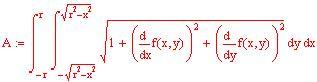 Calcolo dell 39 area della superficie di una funzione a due for Calcolo superficie
