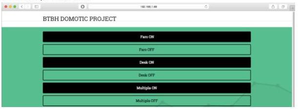 Progetto domotica: interfaccia grafica responsive