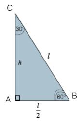 Metà di un triangolo equilatero