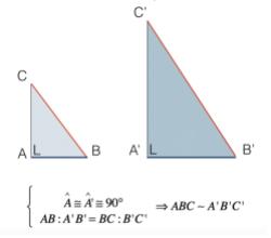 Quarto criterio di similitudine dei triangoli