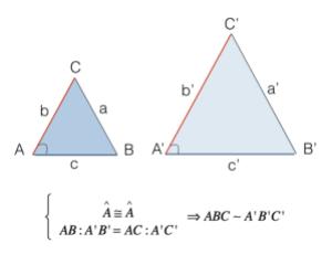 Secondo criterio di similitudine dei triangoli