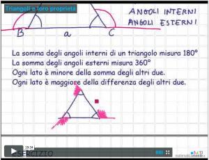 Videolezione sui triangoli e le loro proprieta