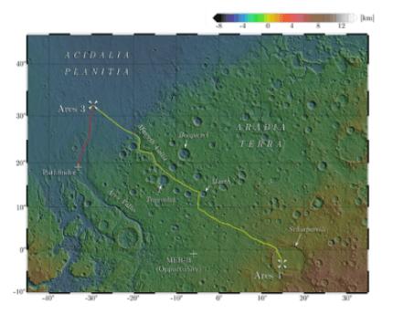 I luoghi di Marte dove avvengono le complesse vicende