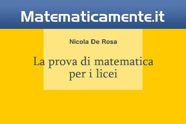 "Copertina de ""La prova di matematica per i licei"""