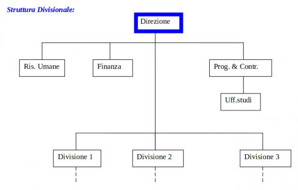 Organigramma della struttura divisionale