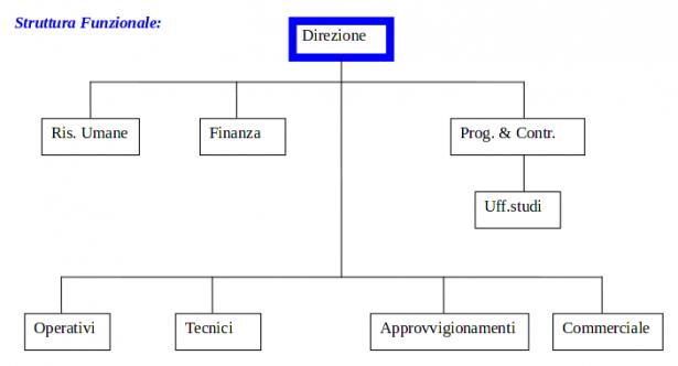 Organigramma della struttura funzionale
