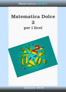 "Copertina de ""Matematica Dolce"" volume 2 - Edizione 2018"