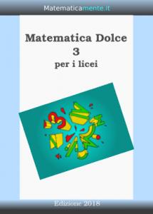 "Copertina ""Matematica Dolce"", volume 3, edizione 2018"