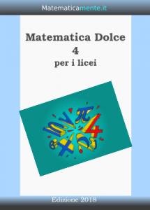 "Copertina ""Matematica Dolce"", volume 4, Edizione 2018"