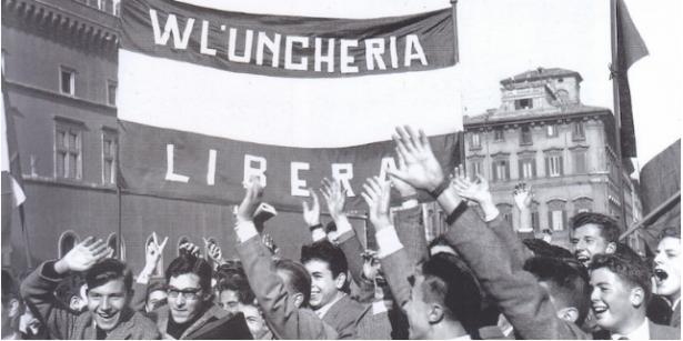 Immagine manifestazione a favore dell'Ungheria
