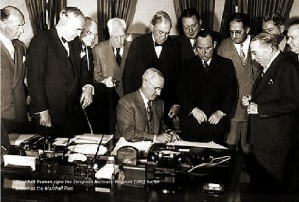 Presentazione del Piano Marshall ad Harvard