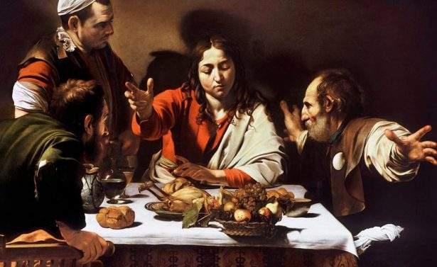 Quadro di Caravaggio: Cena in Emmaus