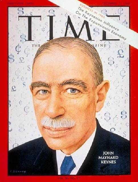 Copertina di Time dedicata a John Maynard Keynes