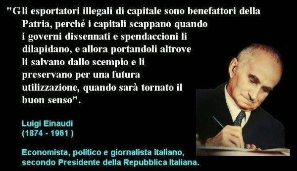 Foto e citazione di Luigi Einaudi