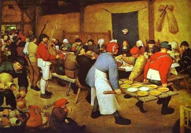 Quadro di Pieter Bruegel il Vecchio: Banchetto nuziale