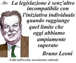 Immagine e citazione di Bruno Leoni.