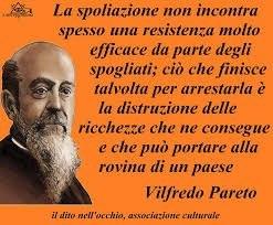 Immagine e citazione di VIlfredo Pareto.