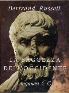 "Copertina del libro ""La saggezza dell'occidente"" di Bertrand Russell."
