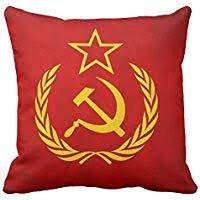 Cuscino con simboli del comunismo.