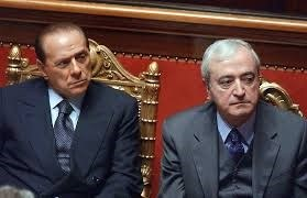 Foto di Silvio Berlusconi con Antonio Martino.