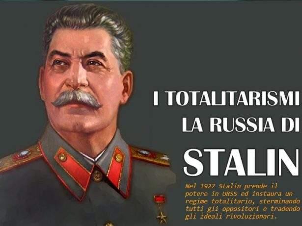 I totalitarismi - La Russia di Stalin.