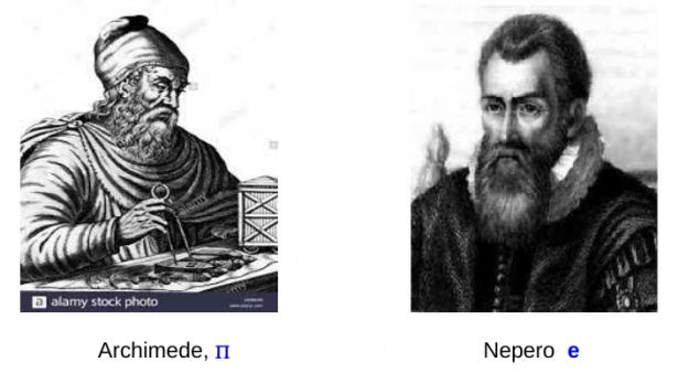 Immagini di Archimede e Nepero